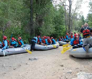 Geo Tours transportation to Clear Creek rafting put-in